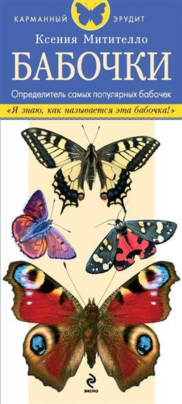 Бабочки. Определитель самых популярных бабочек. Определитель содержит описания и изображения дневных и ночных бабочек, обитающих в средней полосе России