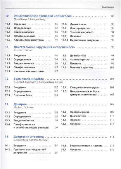 Осложнения и последствия инсультов. Диагностика и лечение ранних и поздних нарушений функции