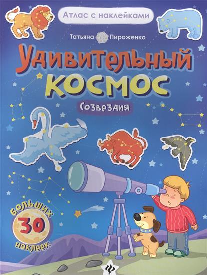 Удивительный космос. Созвездия. Книга-атлас. 30 больших наклейки