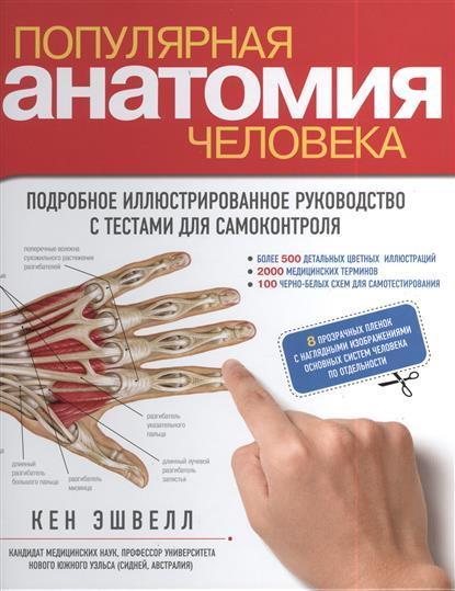 Популярная анатомия человека. Подробное иллюстрированное руководство с тестами для самоконтроля (+ 8 прозрачных пленок с наглядными изображениями основных систем человека по отдельности)