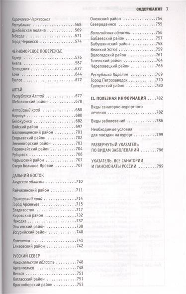 Санатории и пансионаты России. Полный справочник всех здравниц страны